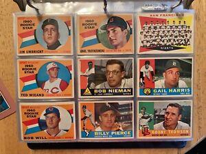 1960 Topps Baseball Complete set 1-572 VGX Awesome set