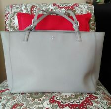 Tory Burch York Buckle Tote. French Gray.