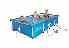 Brand NEW BESTWAY Frame Rectangular Swimming Pool Filter ⁄ Pump 400x211cm *56425