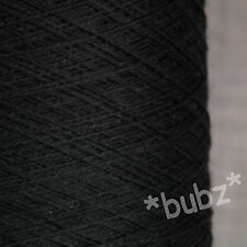 ZEGNA BARUFFA EXTRA FINE PURE MERINO WOOL 2/30s BLACK YARN 1 PLY COBWEB WEIGHT