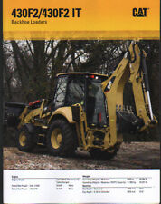 Caterpillar 430F2 and 430F2 IT Backhoe Loader Brochure Leaflet