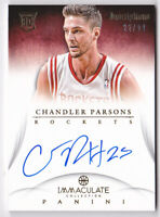 2012-13 Immaculate Collection Inscriptions #CP Chandler Parsons Auto #22/99