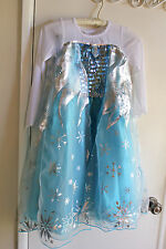 Nwt Disney Style Frozen Elsa Fancy Costume Dress Size 7/8