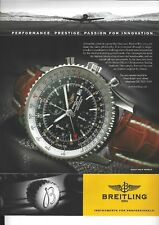A 2006 Magazine Advertisement for - Breitling 1884 Chronometre Navitimer Watch