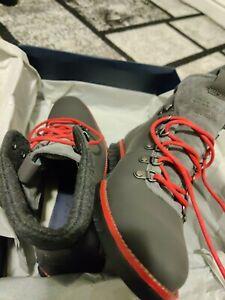 Cole Haan Mens Zerogrand Hiker Magenta Leather Wr/Barbados Cherry/Black sz 9.5