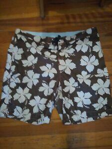 Tommy Bahama Relax Men's Swim suit Trunks size XXL brown & tan floral EUC