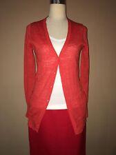 J. Crew Coral Cardigan Long Sleeve Linen Polyester Sweater Sz. Xs,spr.16