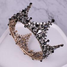 Vintage Black Crown Wedding Tiara Headband Bridal Hair Accessories Prom Princess