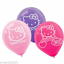 HELLO KITTY Rainbow LATEX BALLOONS (6) ~ Birthday Party Supplies Decorations