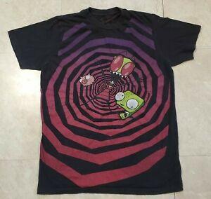 MF Doom Invader Zim Black Graphic T Shirt size M Medium 2008 - EXTREMELY RARE