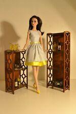 NEW wooden 2 shelf for Dolls 12 in 1/6 furniture FR, Barbie, Poppy, Momoko ooak