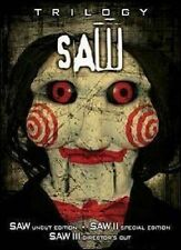 SAW TRILOGY W COLLECTORS MASK DVD MOVIE *NEW* AUS EXPRESS