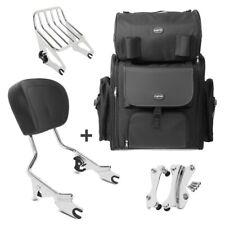 Sissybar w1 + bolsa popa para Harley Road Glide Custom 10-13 con portaequipajes Chr