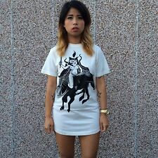 DROPDEAD Drop Dead Tshirt MENS SMALL Adult New Oli Sykes BMTH Horse Owl Tee