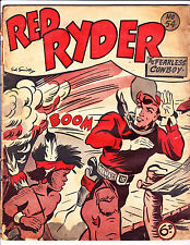 """Red Ryder No 54 1950's  Australian-""""Explosion Cover!  """""""