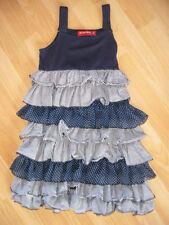 Salt Pepper Kleid Sommerkleid maritim blau Patchwork gestreift gepunktet 104 110