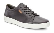 Ecco Mens Soft 7 Dark Shadow Grey Leather Oxfords Sneakers EU Sz 47 4725