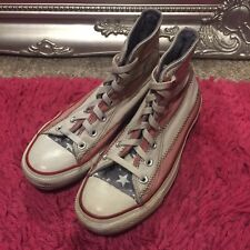 cd756760894fc1  GC  CONVERSE All Star American Flag Hi Tops Skate Shoes Trainers UK Size