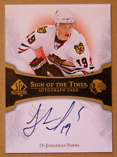2007-08 JONATHAN TOEWS SP AUTHENTIC SIGN OFTHE TIMES ROOKIE AUTOGRAPH AUTO