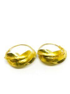 Small Gold Hoop  Fulani Earrings
