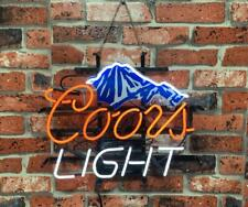 """New Coors Mountain Neon Light Sign 17""""x14"""" Beer Gift Bar Real Glass Artwork Lamp"""