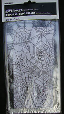 20 x HALLOWEEN Spiders Web Favour sweets Bags Party trick treat bags FREE P&P