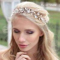 Neu Hochzeit Haarschmuck Perlen Kristall Haarband Braut Diadem Haargesteck