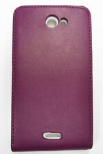 Purple PU Leather Phone Case Cover for HTC One X Phone