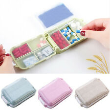 Portable Vitamin Pills Box Plastic Folding Pills Container Case Storage Box[
