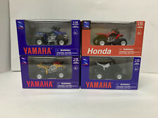 New Ray QTY: 4 Yamaha Honda ATV Kids Toy 1:32 Scale Die-Cast Replicas 06227