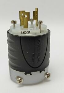 Legrand Pass & Seymour Turnlok Plug 20A 250V 2P 3W Grounding NEMA L620-P