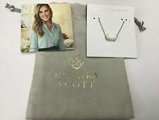 Kendra Scott Ever Silver Pendant Necklace in Ivory Pearl
