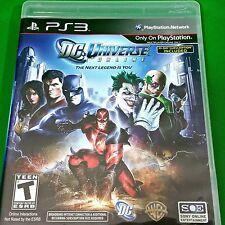 DC Universe Online Sony PlayStation 3, 2011 PS3 GAME COMPLETE Batman Joker