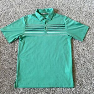 Travis Mathew Mens Green Short Sleeve Polo size Small S Polyester