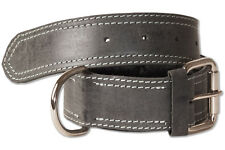 Woodland® Hundehalsband aus Leder für Hunde mit 50-65 cm Halsumfang in Anthrazit