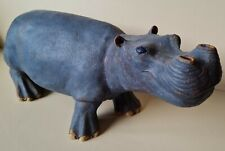 More details for large studio pottery hippopotamus hippo e moore 2002 35cm long