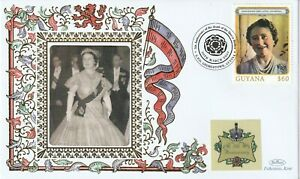 GUYANA 2007 QUEEN MOTHER 5th ANNIVERSARY OF HER DEATH BENHAM LE COVER g