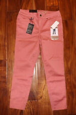 Womens Seven 7 Dusty Rose Pink High Rise SKINNY Jeans Ankle Pants 10