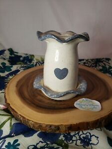 Vintage Porcelain Toothbrush Holder County Cellar Ceramics Blue heart