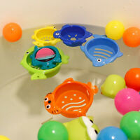 6Pcs/Set Cute Animals Colorful Bath Stacking Cups Development Baby Bath Toy Easy