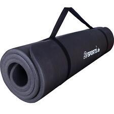 ScSPORTS® Gymnastikmatte Yogamatte Fitnessmatte Turnmatte 185x100x1 cm schwarz