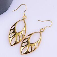 18 K amarillo chapado en oro hueco cuentas pendientes de las mujeres de joyería de moda *** vendedor Reino Unido