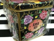 ANNA SUI GIFT BOX (ROSE)  prints Tin Case NEW Made in JAPAN 10cm