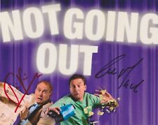More details for lee mack & tim vine hand signed 8x10 photo, autograph, comedian, not going out b