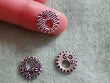 20 Steampunk Cog Gear Charms tibétain Tibet Argent Antique Tone Wholesale W63