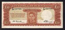 Australia R-60. (1949) 10 Pounds - Coombs/Watt..  King George VI Portrait..  F+