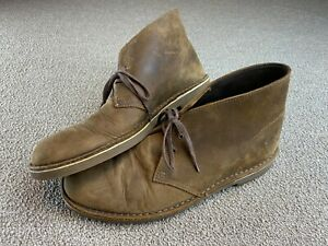Clarks Men's Bushacre 2 Chukka Boot 12 Beeswax Brown Leather 82286