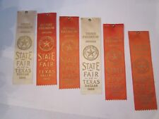 (10) 1956 STATE FAIR OF TEXAS WINNER'S RIBBONS - ANTIQUES - OFC-D