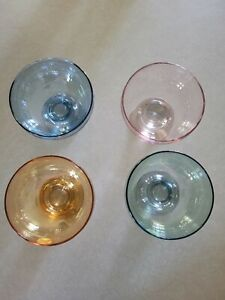 Multi Color Crystal Desert Bowls In Box **Brand New** F746451 Crystal Glasswear