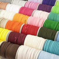 Small Plain Piping Bias Binding Flange Insertion Cord 5m/25m Wholesale 45 Colour